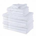 Serviette éponge 30x30cm - Blanc (x12)