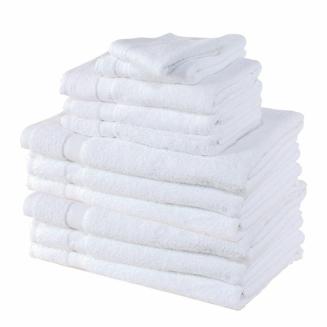 Serviette éponge 40x60cm - Blanc (x12)