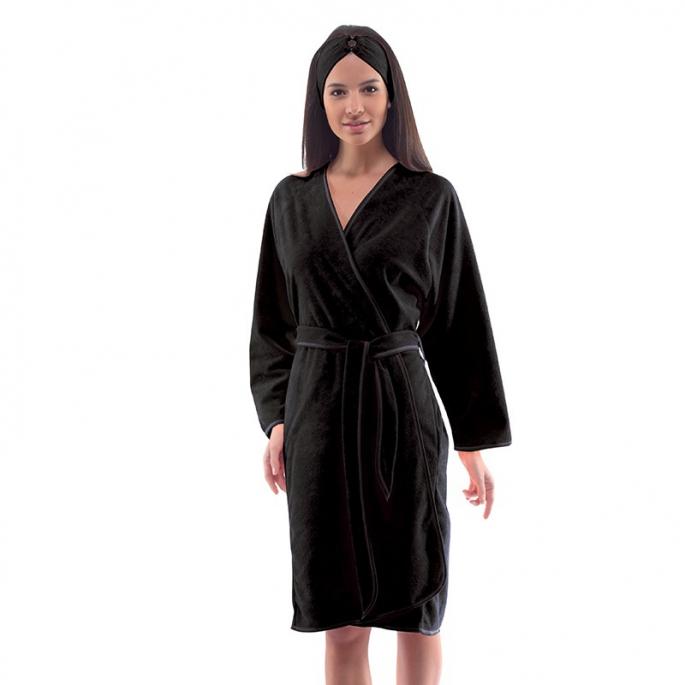 Kimono Eponge - Noir