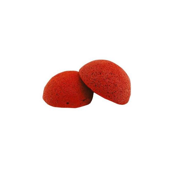 Éponge Konjac argile rouge